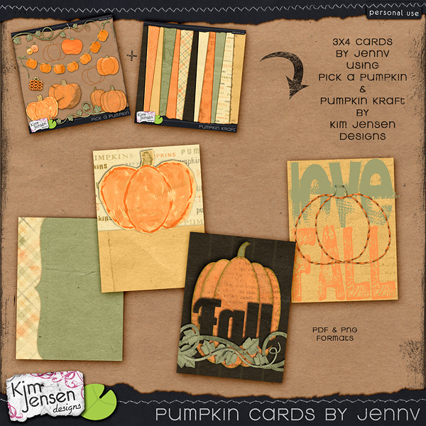 Project Life Pumpkin Cards by jennv