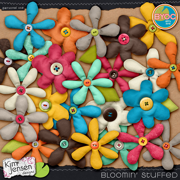 Bloomin' Stuffed fabric flowers