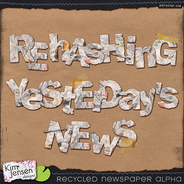 Recycled Newspaper Alpha