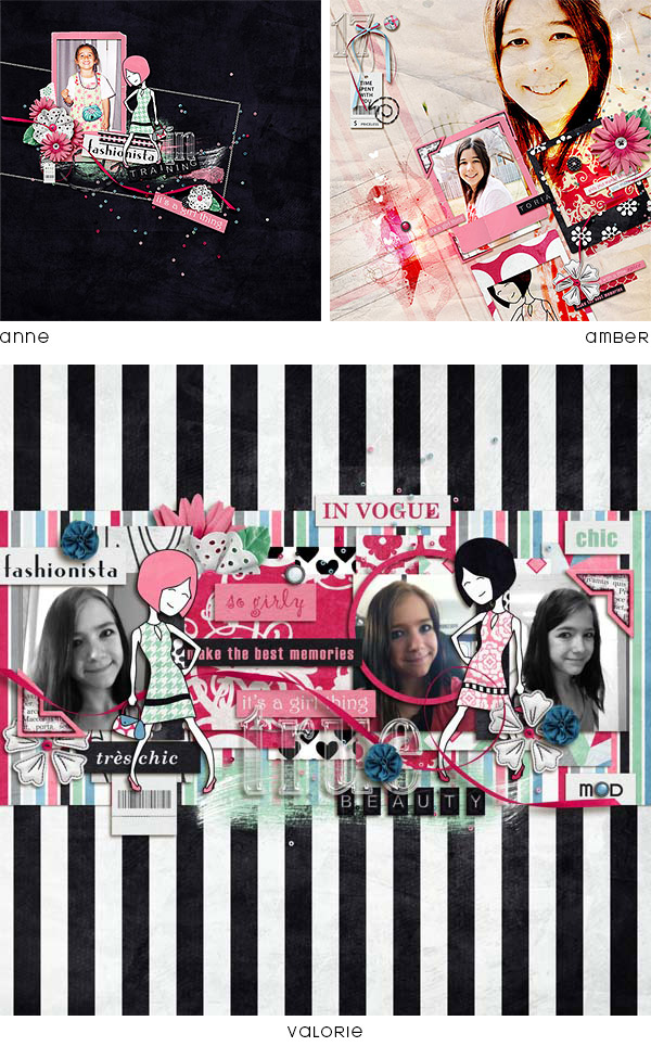 Layouts using Fashion Friendly Bundle